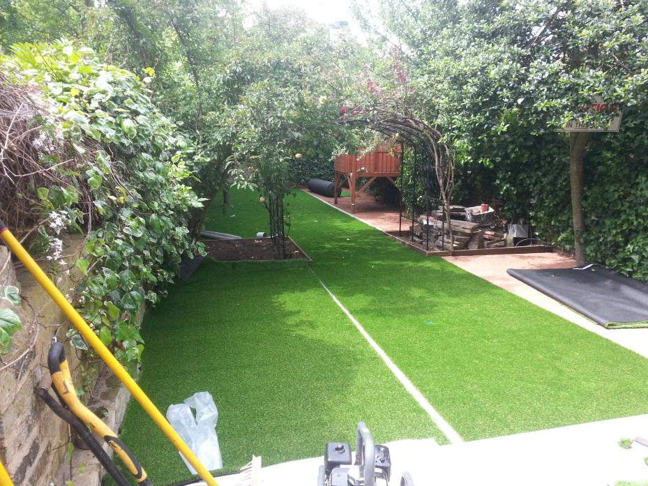 Artificial grass installation process