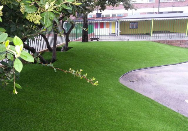 Artificial grass installations at Salisbury School, London