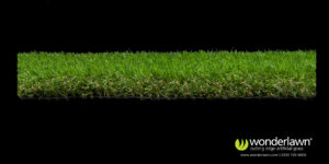 superior artificial grass side view
