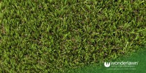 superior artificial grass top view