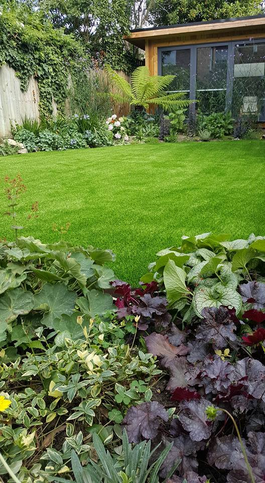 finished artificial grass installation