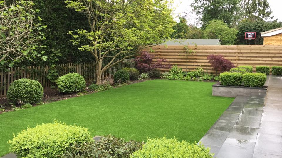 classic artificial lawn after