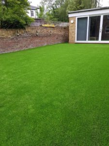clean modern astroturf installation