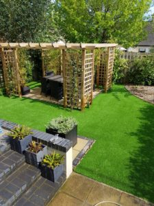 Astroturf with decking
