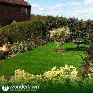 lush artificial grass installation