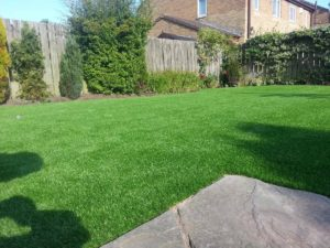 Garden artificial grass installation