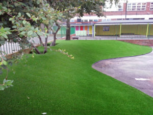 Artificial grass for school yard