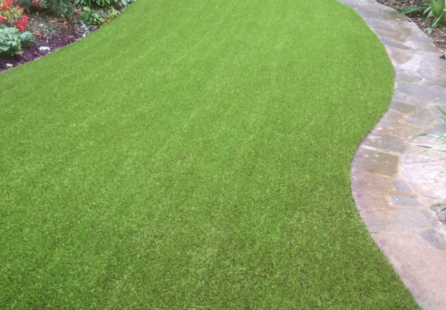 Hertford artificial grass installation