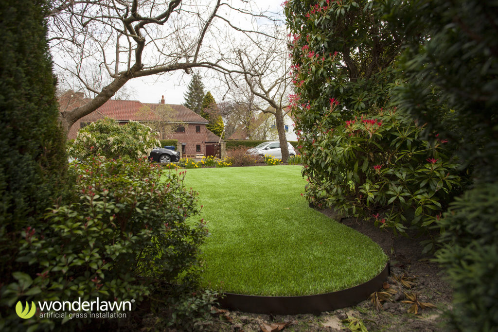 Wonderlawn grass installed with Everedge