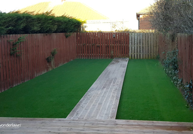 Gateshead artificial grass installation compleated
