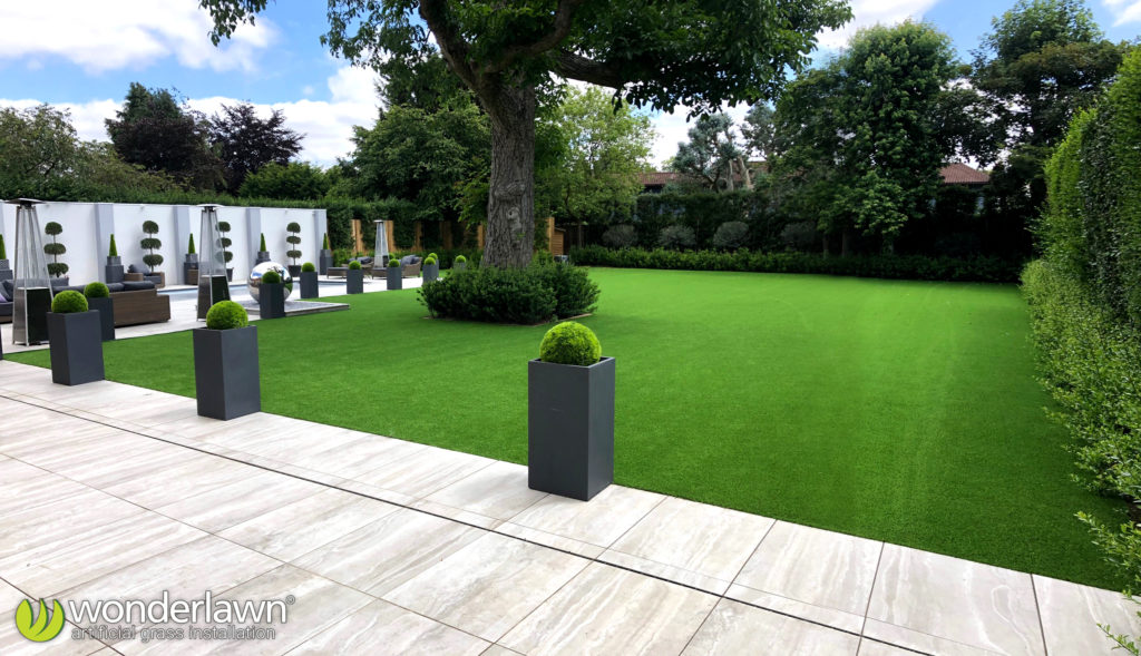 600m2 luxury artificial grass installation