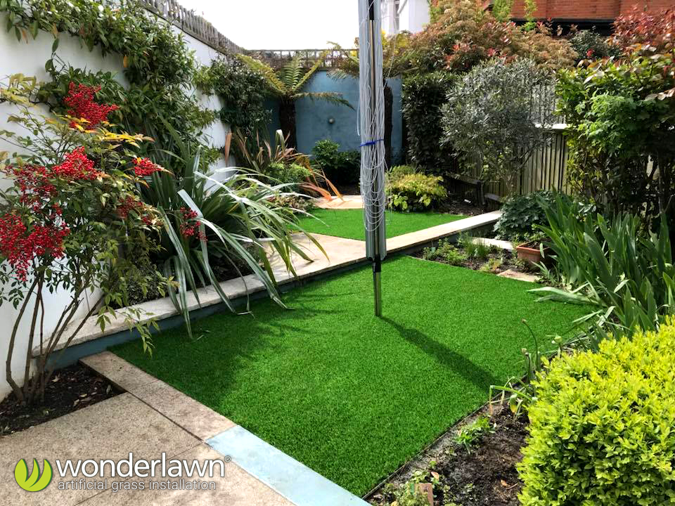 Is my garden too small for artificial grass? Small garden installation.
