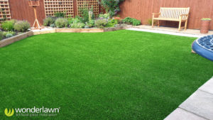artificial grass laid on a patio in Newcastle