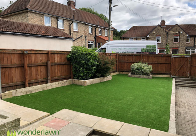 sunderland artificial grass install for dogs after