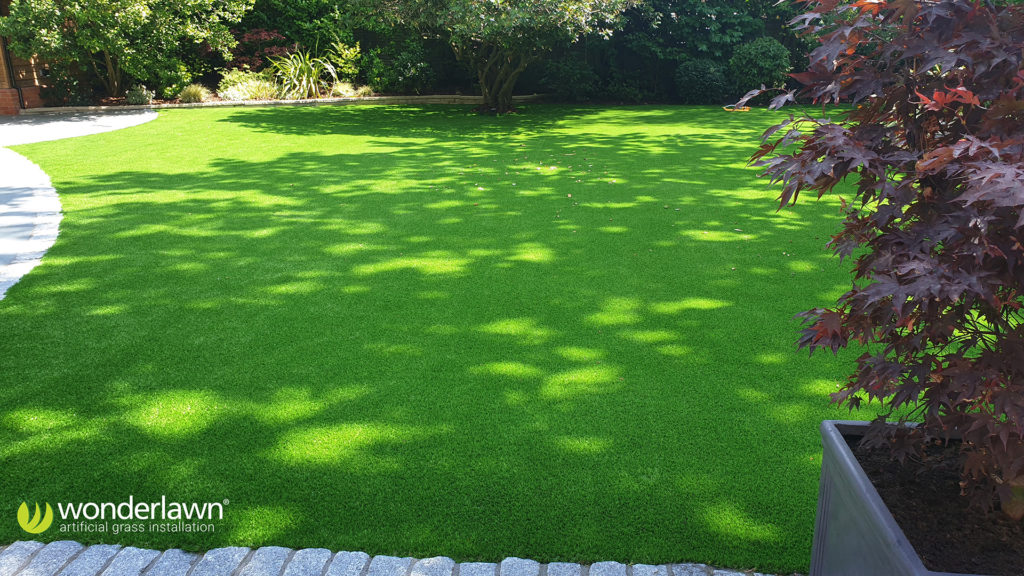 Wonderlawns urban play artificial grass, installed in a garden