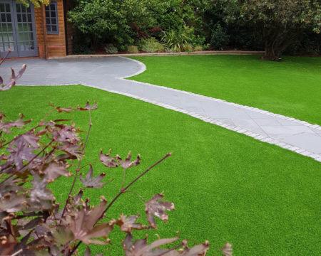 Family garden installation Surrey