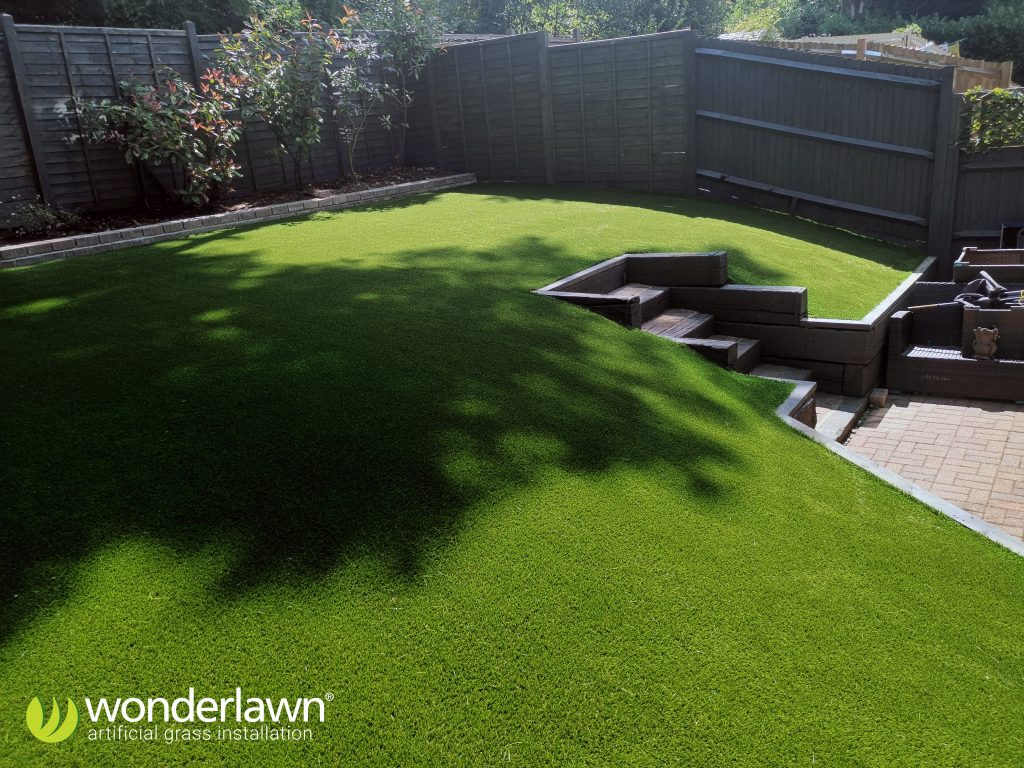 infill is mechanically brushed in to the artificial grass