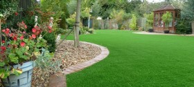 an artificial grass installation by Wonderlawn