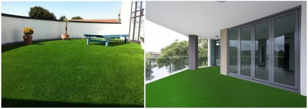 Wonderlawn artificial grass installation on a balcony