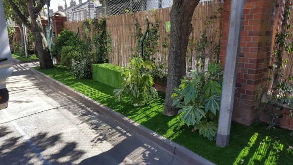 artificial grass for schools after installation