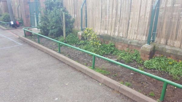 artificial grass for schools before installation