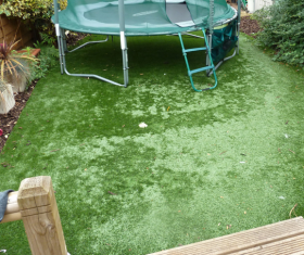 after the snow on artificial grass